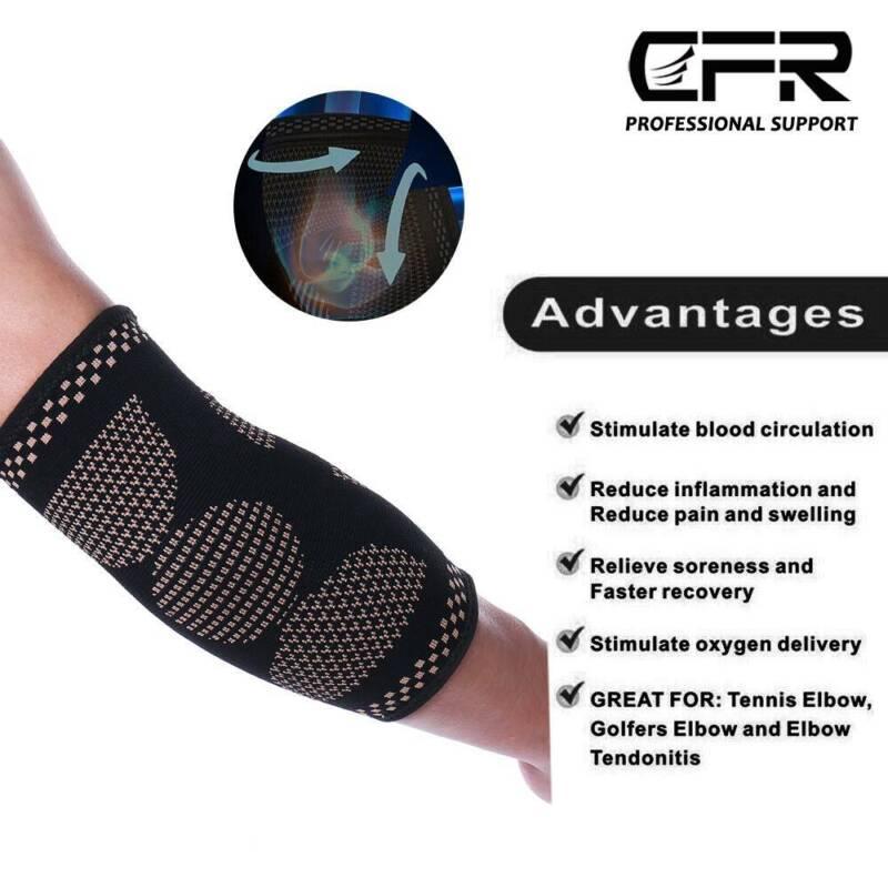 Copper Elbow Sleeve Brace Tendonitis Elbow Arthritis