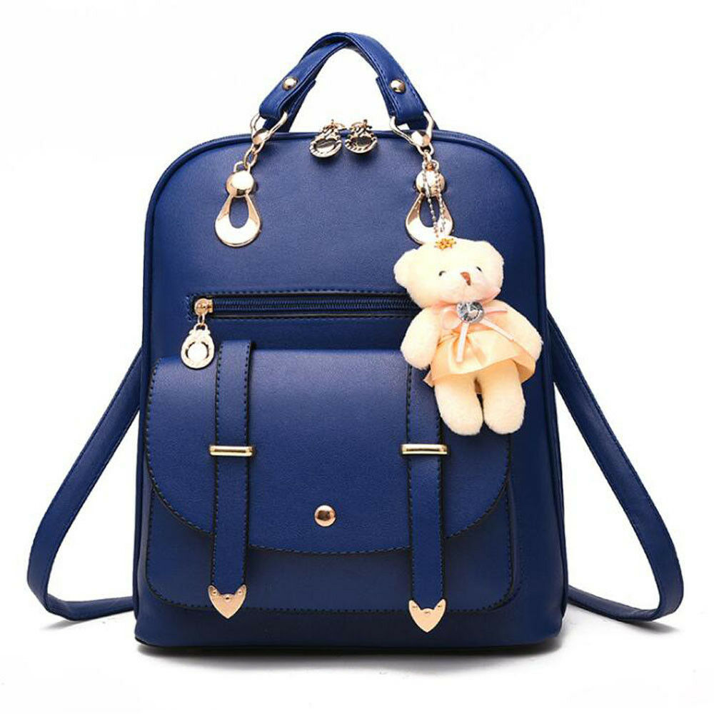 Women Leather Backpack Handbags Shoulder Travel School Bags Rucksack Satchel