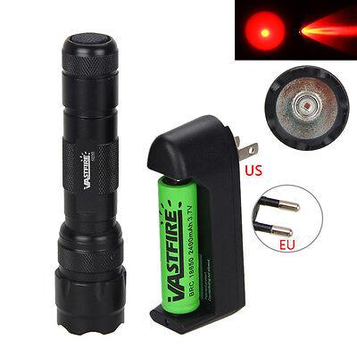 Taktische 5000lm Q5 ROT LED Taschenlampe Jagen Lamp Rifle Picatinny Mount+Switch ()