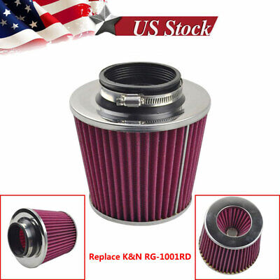 """FOR K&N 3"""" to 4"""" Round Tapered Universal Air Intake Cone Filter Chrome SUV/Truck, used for sale  USA"""