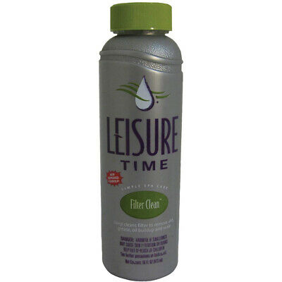 Leisure Time Filter Clean 16 Fl. Oz. N Overnight Spa & Hot Tub Filter Cleaner Leisure Time Spa