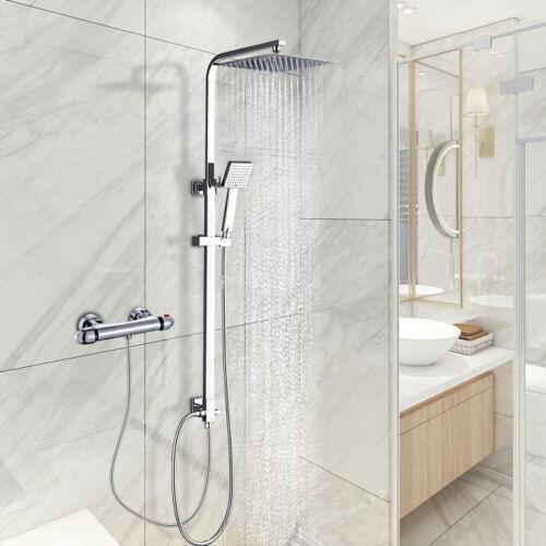 Edelstahl Duschsystem Regendusche Duschset Massage Duschpaneel mit Handbrause DE