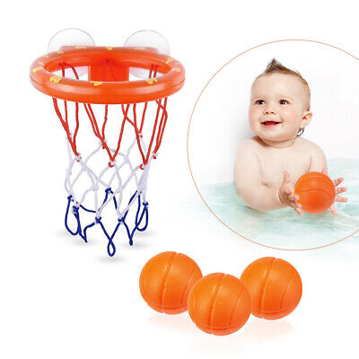 Toddler Bath Toy Basketball Hoop Suction Cup Mini Gift for Baby Kids Bathroom