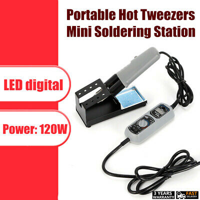 Portable Yihua 938d Hot Tweezers Mini Soldering Station W Stand Led Digital Usa