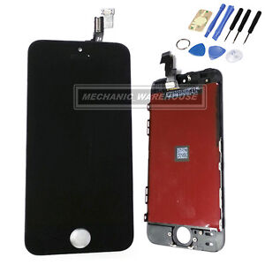 Black-Replacement-LCD-Digitizer-Display-Touch-Screen-Tools-Apple-iPhone-5S-SE