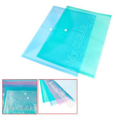 5Pcs A4 Stud Plastic Popper Files Folders Document Wallet Office Depot Study New