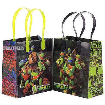 Ninja Turtles Goodie Bags (Ninja Turtles TMNT Authentic Licensed Reusable Small Party Favor Goodie 12 Bags)