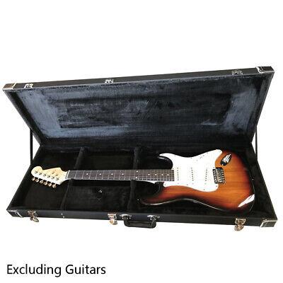 "US 41 x 14"" Portable Electric Guitar Square Hard Case Microgroove Flat Black"