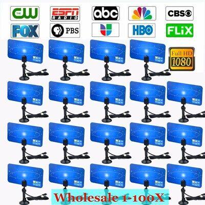 Digital Indoor VHF UHF Ultra Thin Flat TV Antenna for HDTV 1080p TV HD Ready Lot 1080p Hd Ready Tv