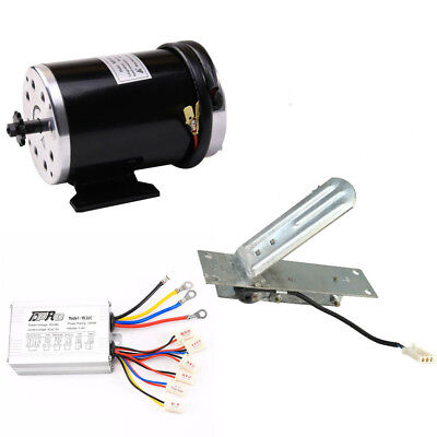 1000 W 48v Dc Electric Motor Kit W Base Speed Controller Foot Pedal Throttle