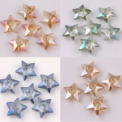 10 20Pcs Hot Sell Glass Crystal Star Shape Beads Loose Spacer Craft Bead 10 4Mm