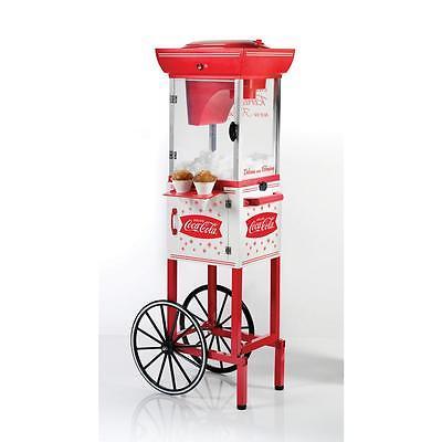Coca-cola Vintage Cart Snow Cone Maker Hawaiian Shaved Ice Cube Machine Slushy