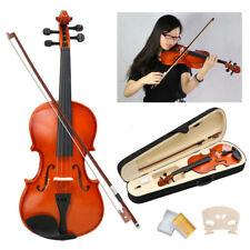 4/4 Full Size Acoustic Violin Set With Case&Bow&Rosin Cake&Bridge & Strings