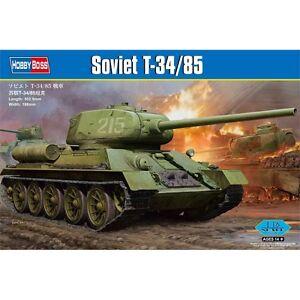 1:16 T34/85 Tank Model - T34 85 Soviet Hobbyboss Plastic Kit Military Army