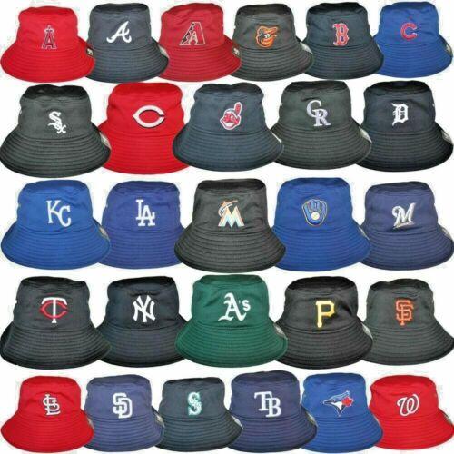 MLB Bucket Boonie Hat All 30 Baseball Team Lightweight We Sell Quality Hats LOOK
