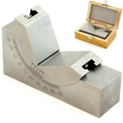 4 X 1-316 Precision Angle Block Adjustable Toolmaker Gauge 0-60 Degree
