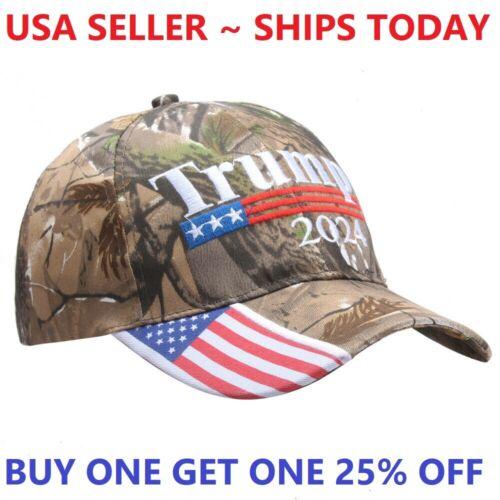 Trump 2024 Camo Hat Cap Save America Again Donald MAGA KAG Take America Back