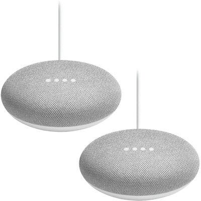 Google Home Mini Smart Speaker with Google Assistant 2-Pack Bundle - Chalk