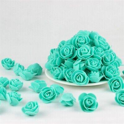 Foam Flowers (Mini Foam Rose Head Artificial Flowers Party Wedding Bouquet DIY Home Decor)