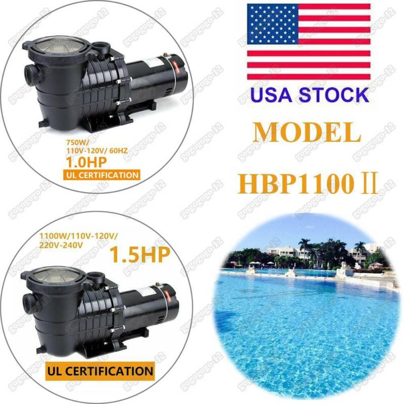 Hayward 1/1.5HP InGround Swimming Pool Pump Motor Strainer G