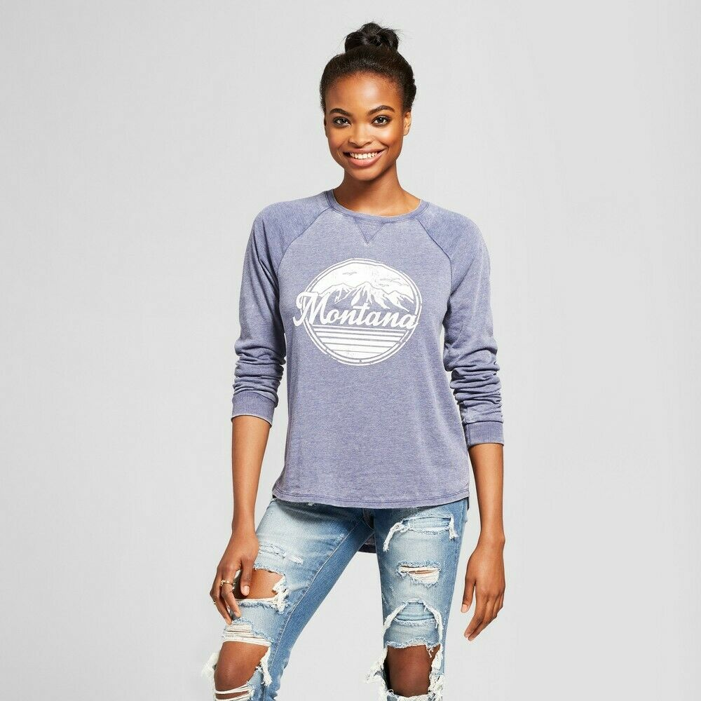 Women's Montana Graphic Sweatshirt – Grayson Threads (Juniors') – Navy XXL Clothing, Shoes & Accessories