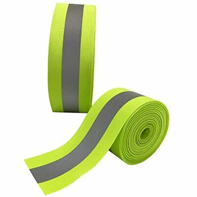 Reflective Safety Tape High Visibility Sew-on Strip Fabric Warning Packaged Roll