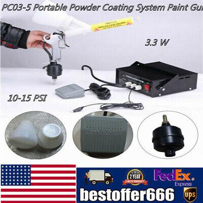 Portable Powder Coating System Pc03-5 Paint Spray Gun Machine 25ns Kit
