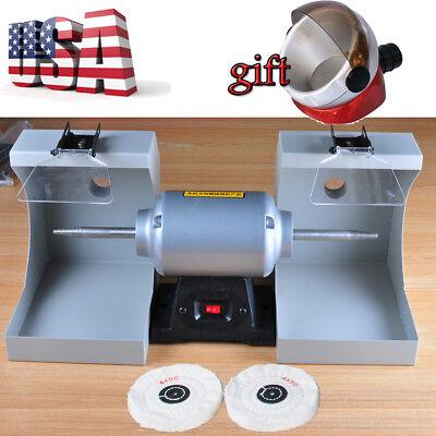 Jewelry Polishing Lathe Buffing Machine For Dental Lab W Dust Hoodsuction Base