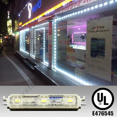 50ft Installed Storefront Window Led Module Lights Sign Bar Neon White Warranty