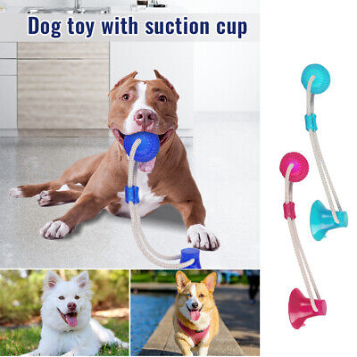 Dog Chew Toy (Pet Molar Bite Toy Multifunction Floor Suction Cup Dog Chew Tug Toy Ball )