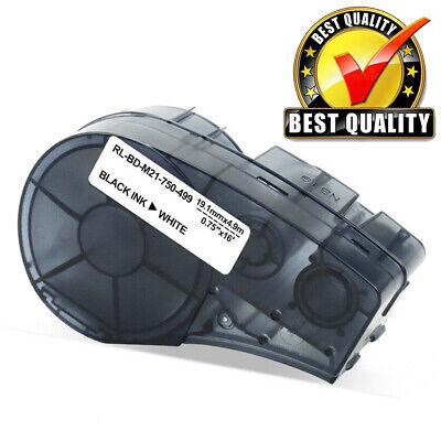 Nylon Label Tape For Brady M21-750-499 Black White High Adhesion Tape 34x16