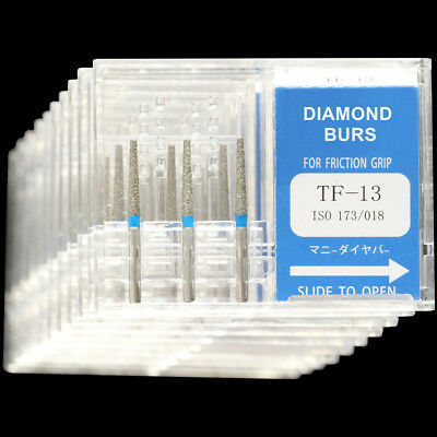 10boxestf-13 Mani Dia-burs High Speed Handpiece Standard Grit Dental Diamond Bur