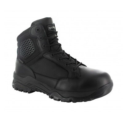 Boots - Magnum Mens Strike Force 6.0 WP Black Waterproof Police Combat Boots 5434