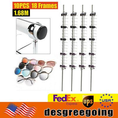 10pcs Aluminium Lockable Eyewear Eyeglasses Sunglasses Display Rod 12 14 18frame