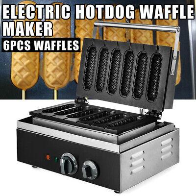 nonstick waffle maker 6pcs time hot dog