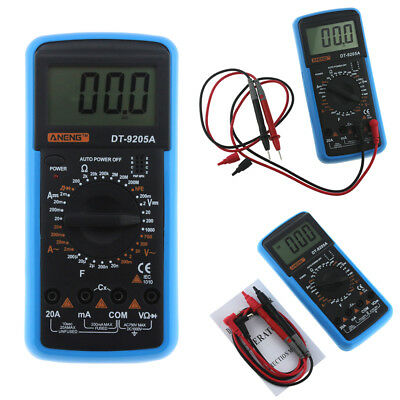 Dt-9205a Ac Dc Lcd Digital Multimeter Electric Handheld Tester Meter Multimetro