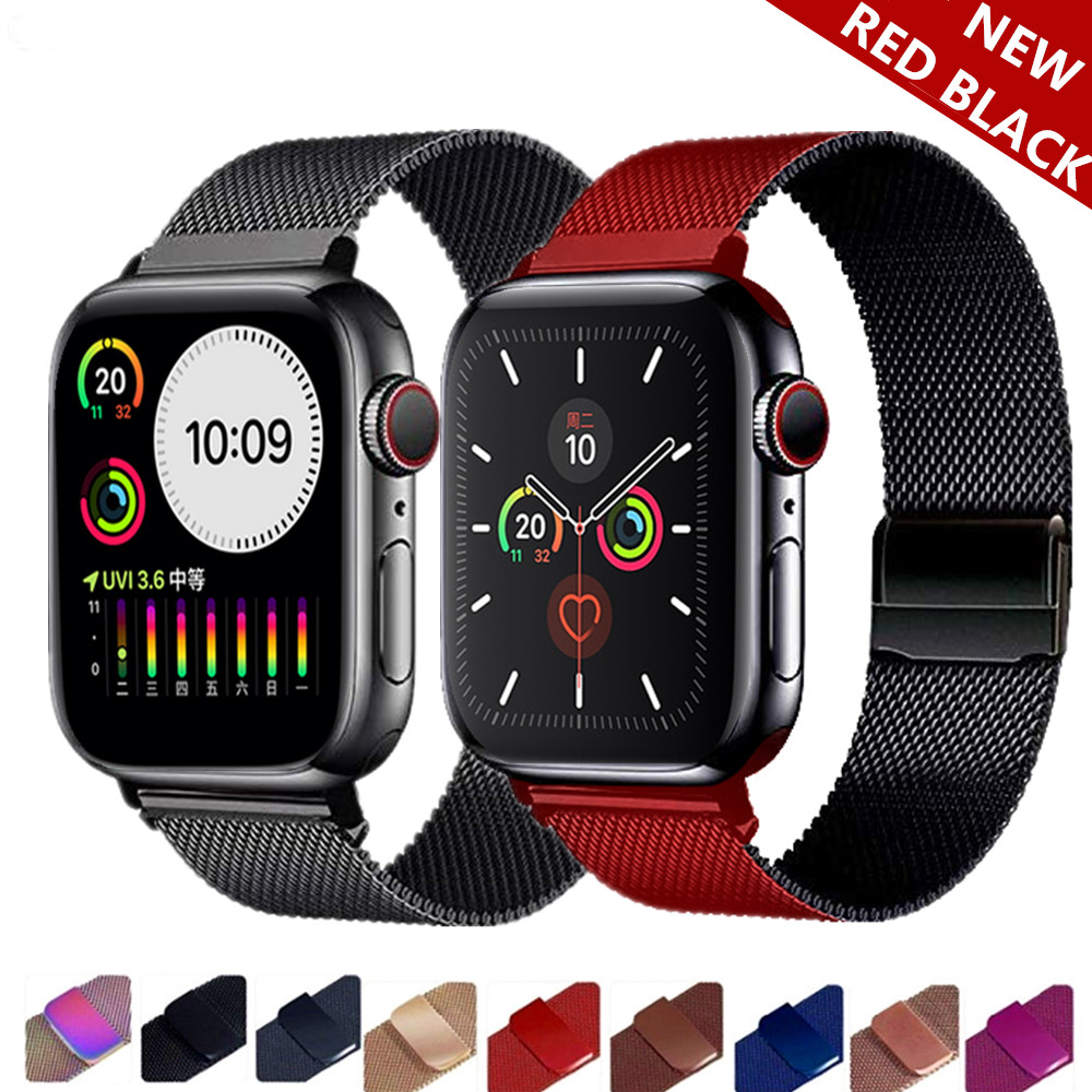 For Apple Watch Milanese Loop Strap band Series 5/4/3/2 watc