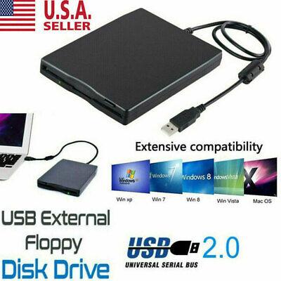 3.5 Inch USB 2.0 Portable External Floppy Disk Drive 1.44Mb Reader FDD PC Laptop