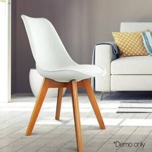 Artiss Set of 4 Padded Dining Chair - 2 Colours - FREE DELIVERY