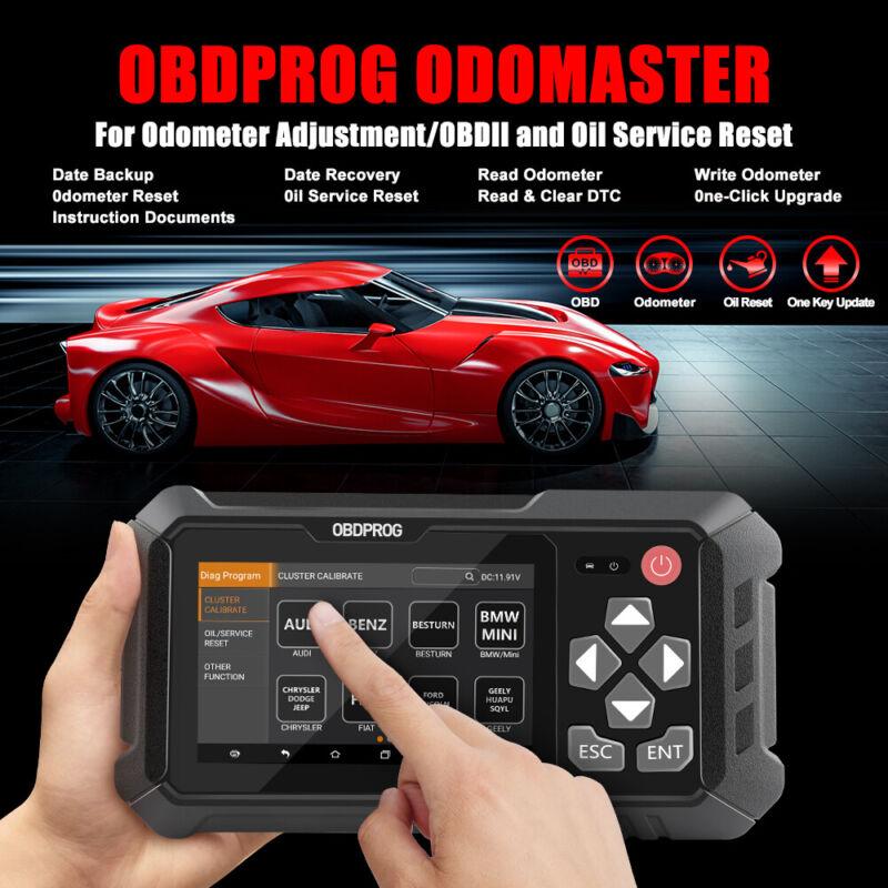 OBDPROG M500 OBD2 Scanner Mileage Odometer Correction Adjustment Diagnostic Tool