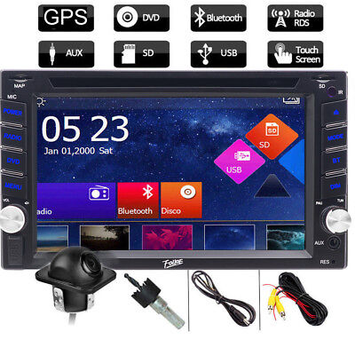 """HD 6.2"""" In Dash Double 2Din Car Stereo DVD GPS Player Touchscreen Auto Radio+Cam"""