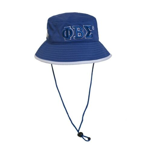 Phi Beta Sigma Fraternity Bucket Hat-Blue- Style 2-New!