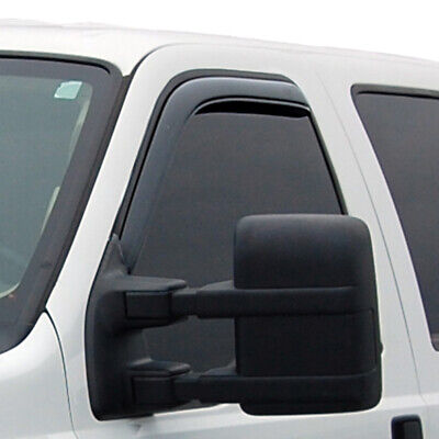 AVS Smoked In Channel Vent Visor Front Rain Guards for 99-16 Ford F250 F350 F450