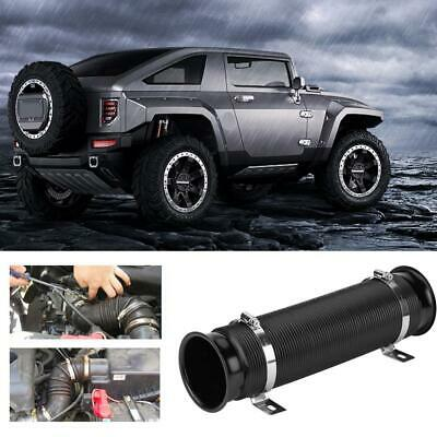 76mm 3inch Car Cold Air Intake Inlet Pipe Flexible Duct Tube Hose Kit UK SELLER