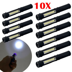 Lot 10pc Super Bright COB LED Pocket Pen Light Inspection Work Light Flashlight