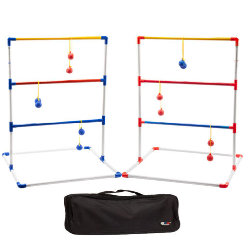 Portable Ladder Ball Toss Game Set. Outdoor Patio Backyard Lawn Game