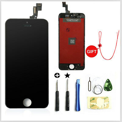 LCD Display Touch Digitizer Screen Assembly Replacement for iPhone 5G Black +jie