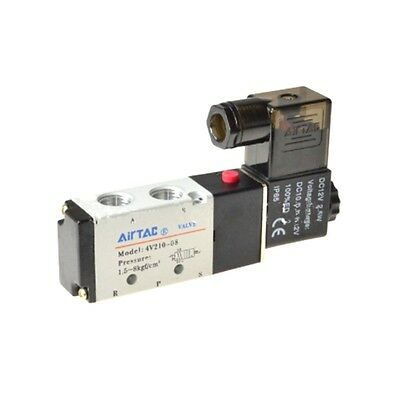 Solenoid Valve 4v210-08 5 Way 2 Position Pneumatic Air 14 Bspt Dc 24v 1pc