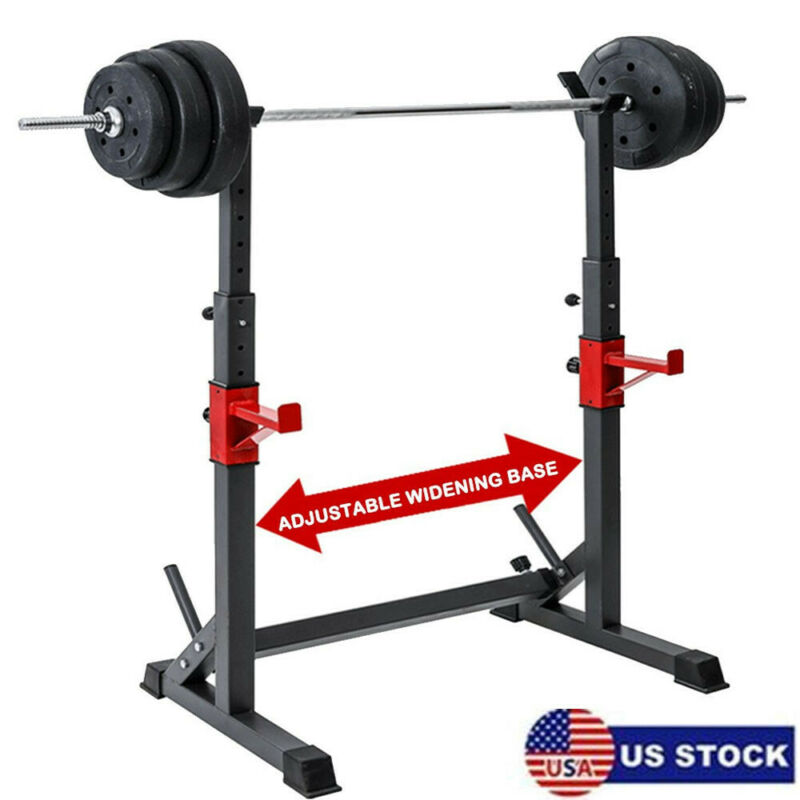 Adjustable Squat Rack Bench Press Power Weight Rack Barbell