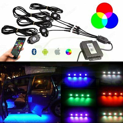 Firebug 4 Pod RGB LED Rock Lights Kit for Jeep Off Road Truck Boat Accessories